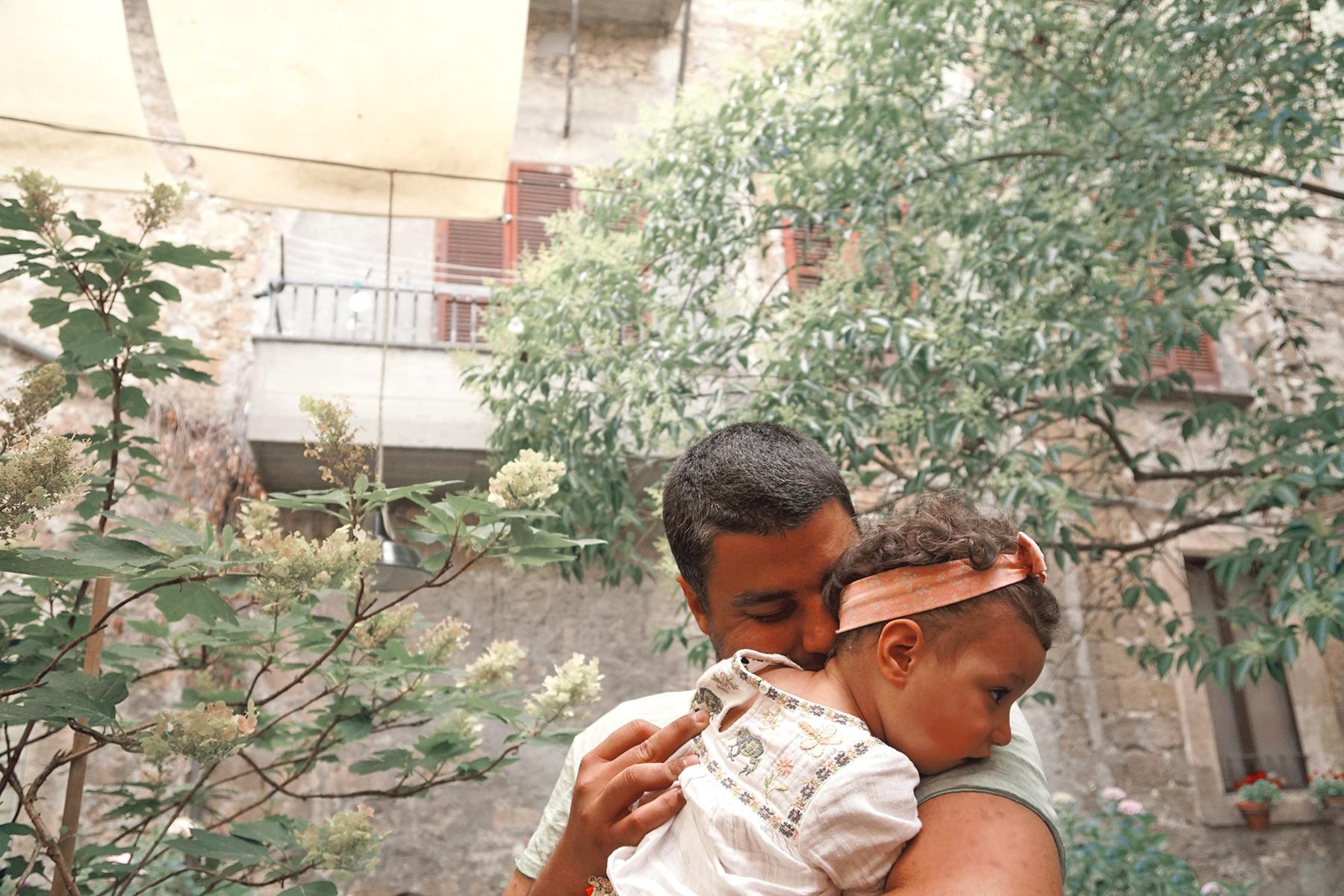 Père et fille, Orvieto Italie