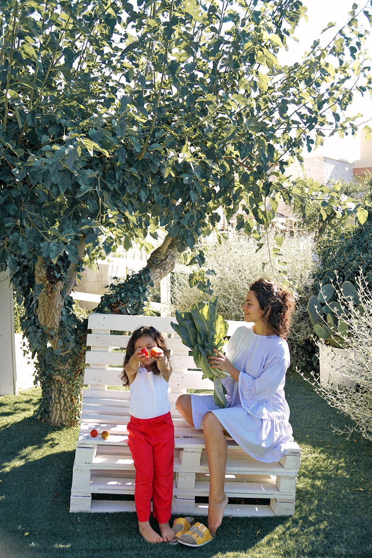 Mère et fille à Dimore Don Carmelo, Locorotondo, Italie