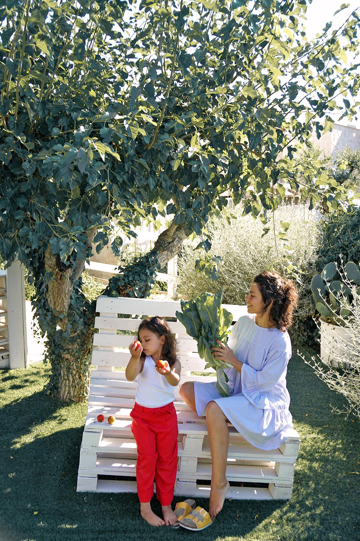 Mère et fille, à Dimore Don Carmelo, Locorotondo, Italie