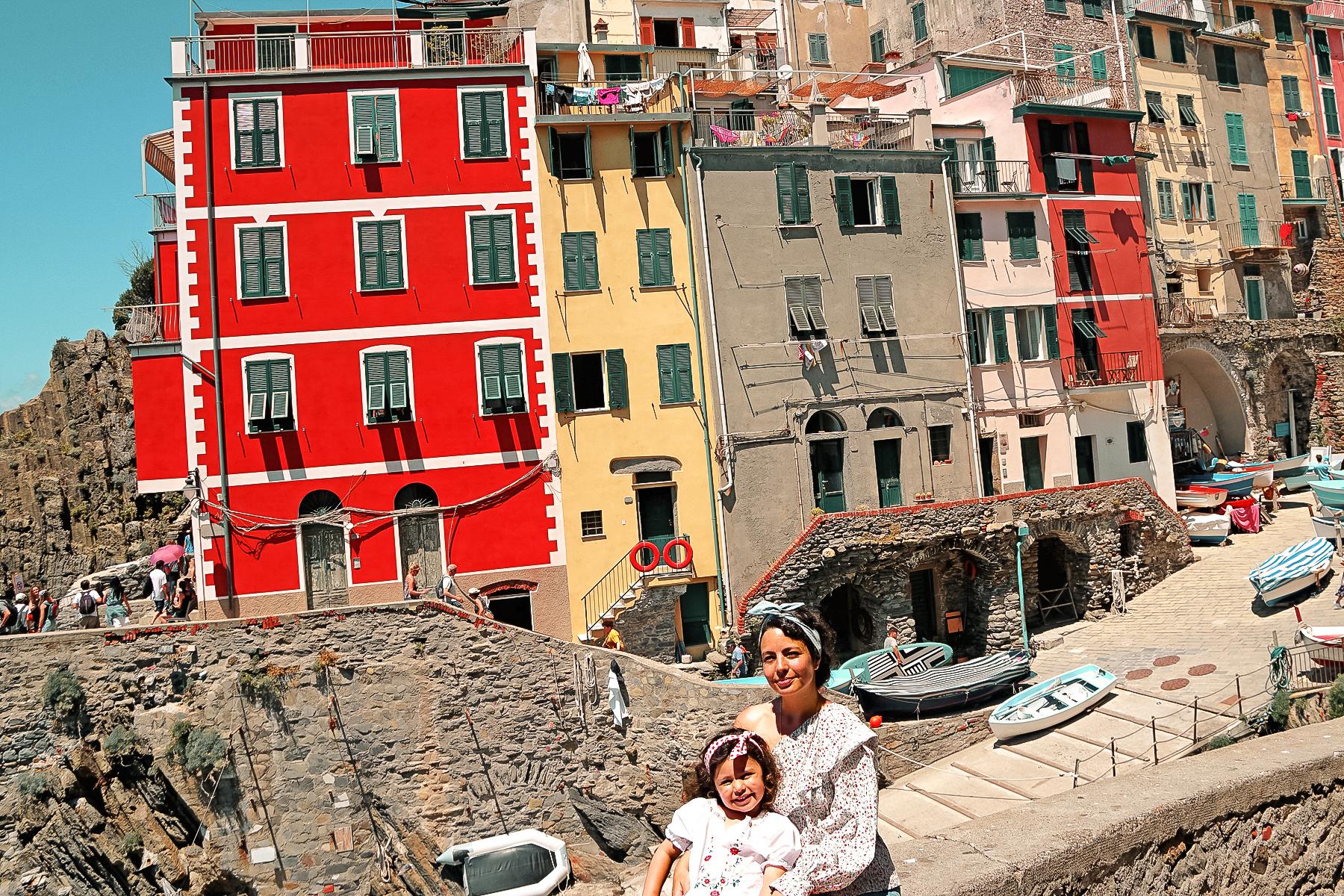 Riomaggiore, mère et fille