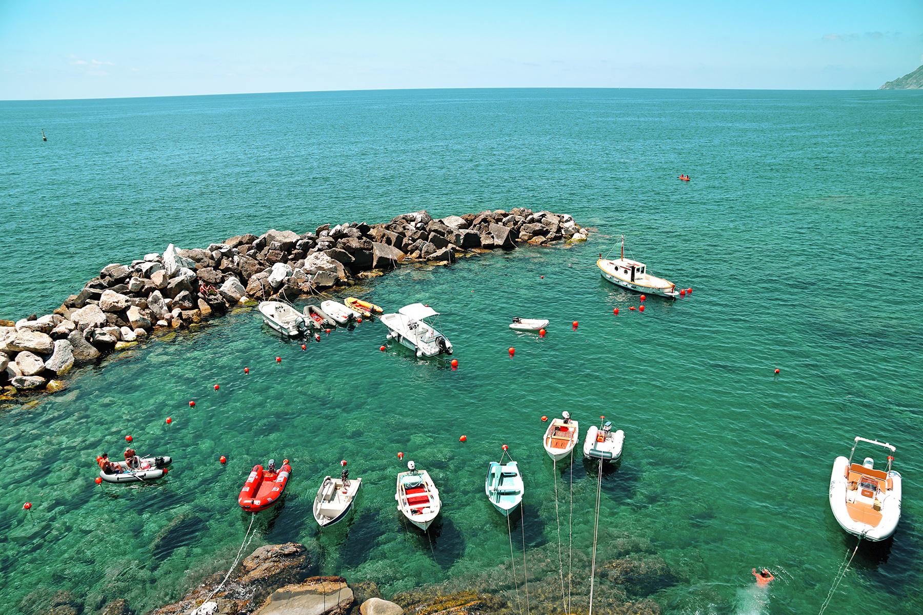 Riomaggiore, vue sur la mer