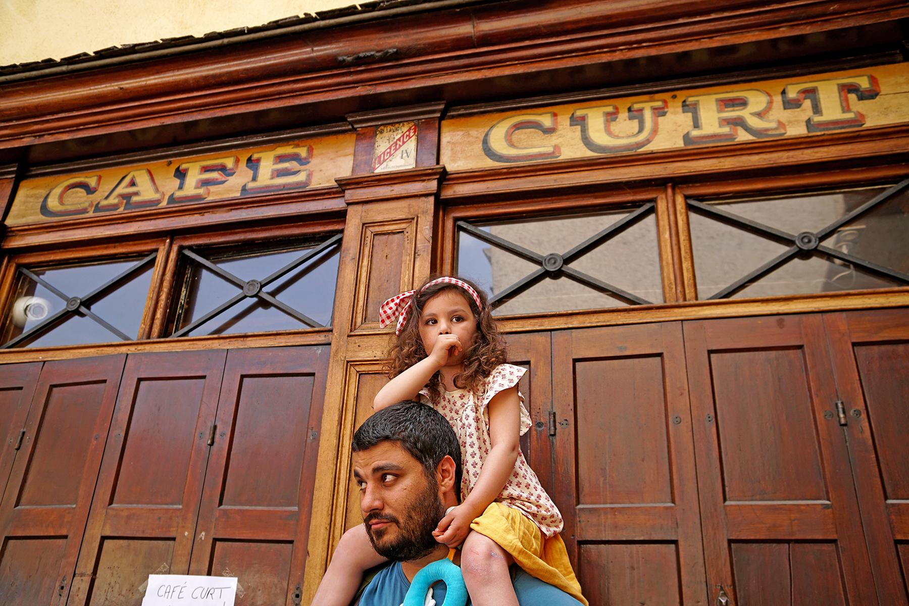 Père et fille à Annecy