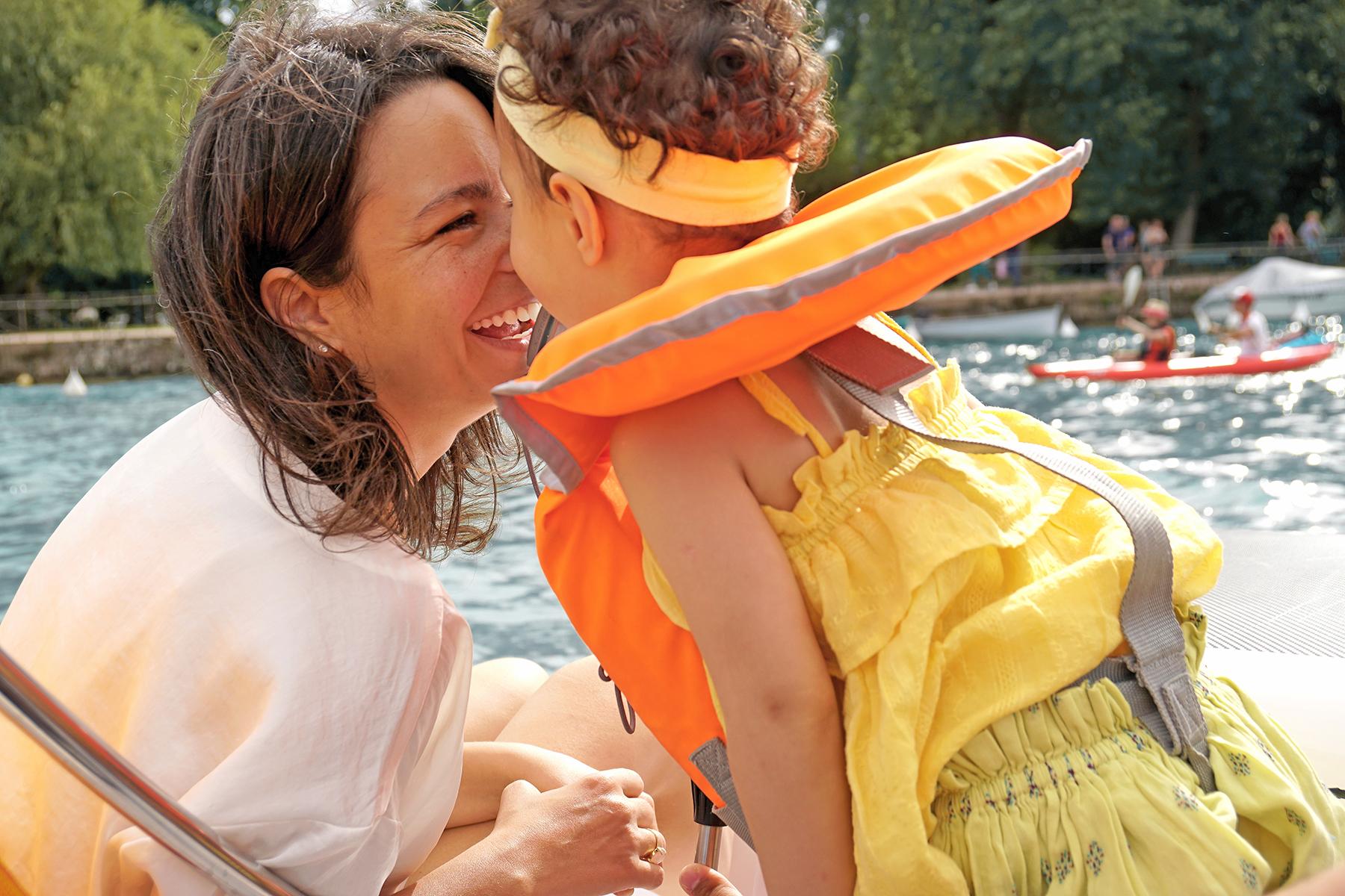 Mère et fille, Lac d' Annecy