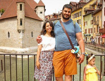 Une famille à Annecy