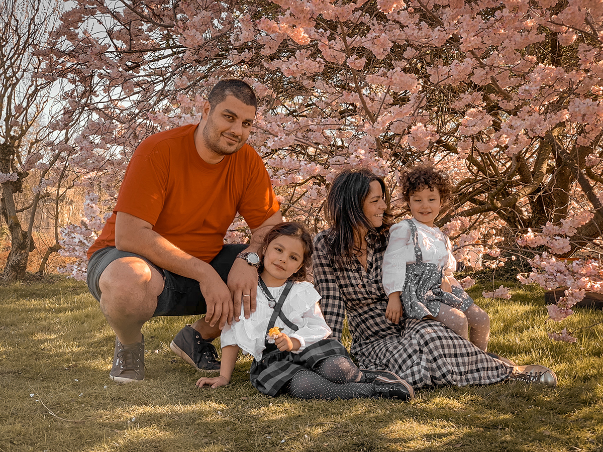 Photo de famille à 4