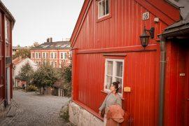 Oslo, Damstredet, maison de bois