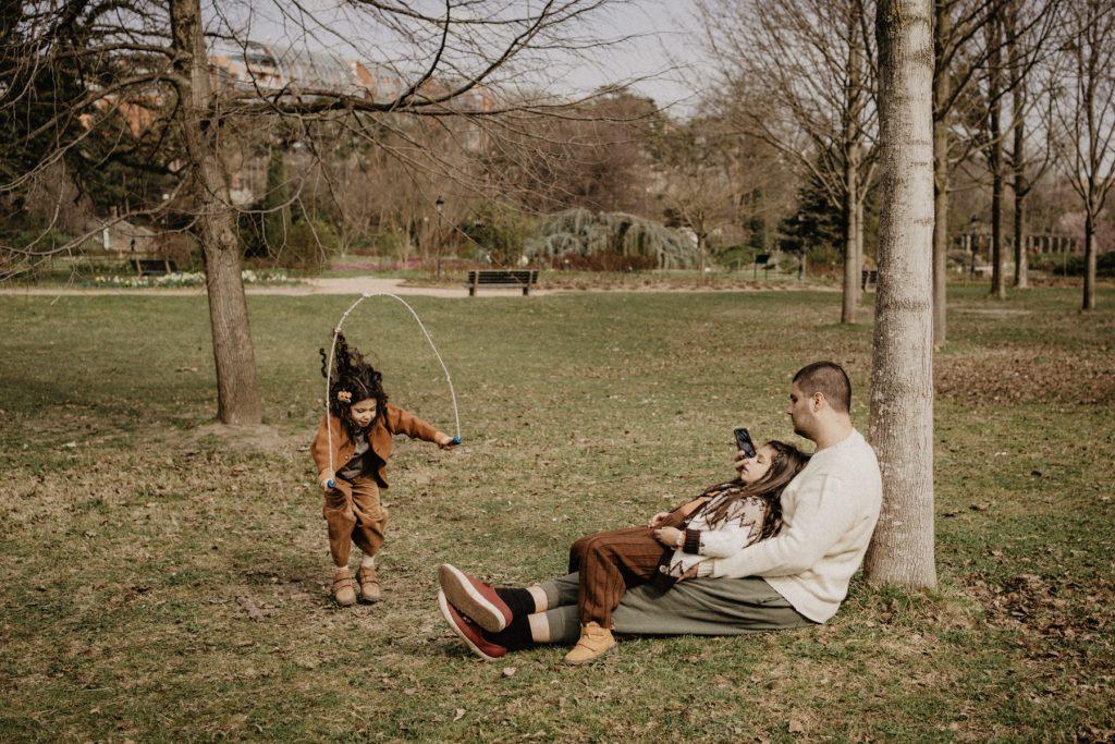 Corde à sauter en famille au parc de la tête d'or
