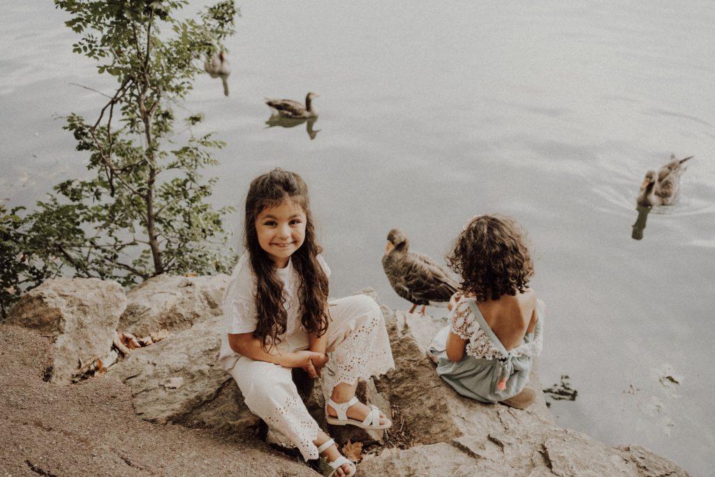 Les enfants au Lac de la Tête d'Or